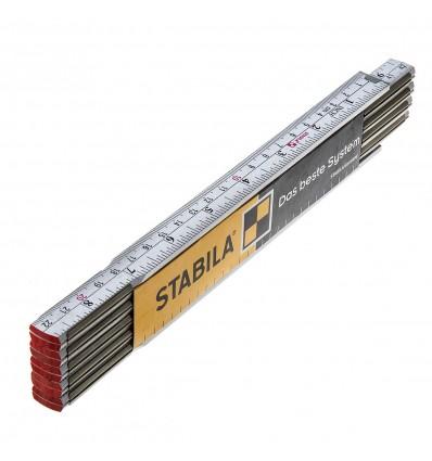 011345 - METRO PLEGABLE DE CARPINTERO DE 2M BLANCO - STABILA