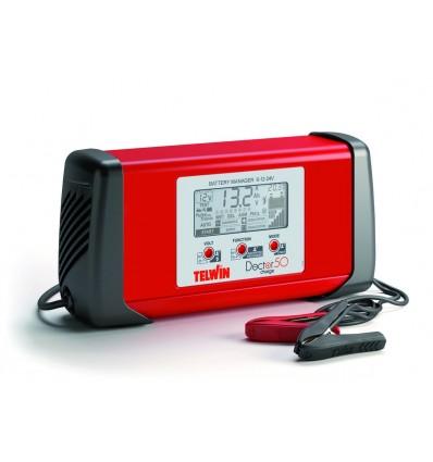 807598 - DOCTOR CHARGE 50 - TELWIN - Cargador de baterías inverter multifunción (BATTERY MANAGER) para el mantenimiento c
