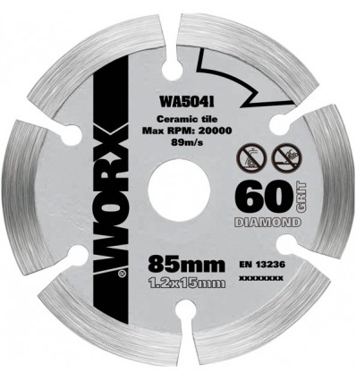 WA5041 - DISCO DE DIAMANTE DE Ø85X15MM PARA VERSACUT