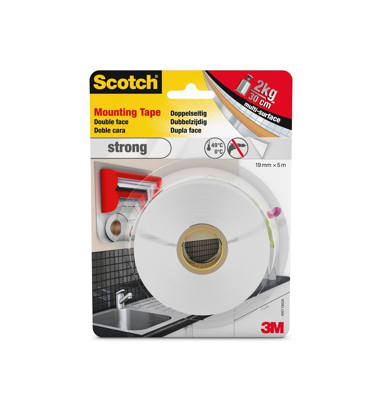 Uu008904664 cinta de doble cara montaje strong blanca - Cinta 3m doble cara ...