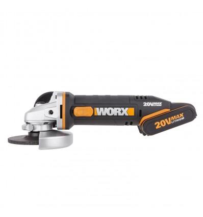 WX800 - MINIRADIAL 115MM 20V 3 ACCU 4Ah - WORX